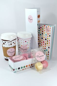 I'm in love with The Macaroon Room packaging PD