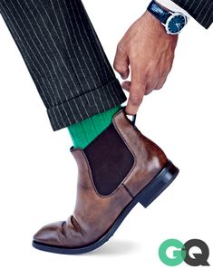 1. The Booted-Up Suit How to do take your wear-to-work rig from blasé to badass? Throw on a pair of boots that toe the line between style an...