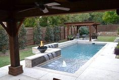 Fantastic pool designs which will make yours the best on the block Affordable, Premium Small Dallas Small Plunge Pool Rectangular Pool Design Ideas, Pictures, Remodel Decor Backyard Pool Landscaping, Backyard Pool Designs, Small Pools, Swimming Pools Backyard, Small Backyard Landscaping, Swimming Pool Designs, Landscaping Ideas, Backyard Ideas, Backyard Gazebo
