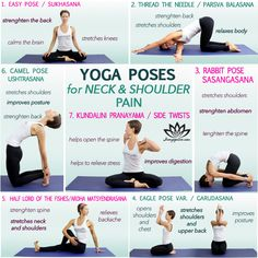 Yoga can be magical for improving posture. Consequently,Yoga improves neck pain, headaches and migraines as well. Neck Yoga Stretches, Neck And Shoulder Stretches, Shoulder Pain Exercises, Yoga Shoulder, Neck And Shoulder Pain, Neck Pain, Migraine, Easy Yoga For Beginners, Beginner Yoga Poses