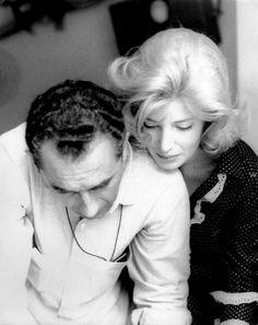 Michelangelo Antonioni e Monica Vitti