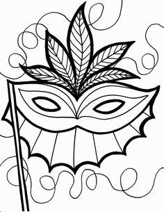 Mardi Gras Coloring Page   COLORING PAGES   Pinterest   Mardi Gras ...