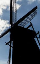 Vermeer Mill in Pella is the TALLEST working grain windmill (koren molen) in the United States. The authentic Dutch windmill towers 124 feet from the street to the tip of the sail.