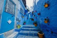 One of the streets in Chefchaouen in Morocco
