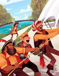 Pirate Illustrations #pirate #illustration