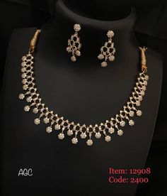 Diamond Necklace To place order watsap us on 8179399644 Diamond Necklace Simple, Gold Diamond Earrings, Diamond Bracelets, Diamond Jewellery, Simple Necklace Designs, Cartier Bracelet, Small Necklace, Gold Necklace, Choker Necklaces