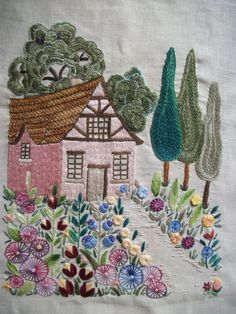 Embroidered Cottage Garden.