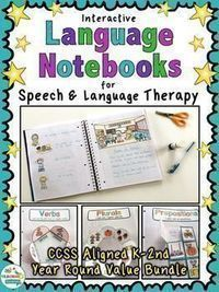 Try these fun interactive language activities for Speech Therapy. Your students build their notebooks as they master their goals!