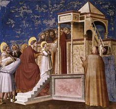 giotto, scrovegni, la presentazione della vergine al tempio, 1300 - Cerca con Google