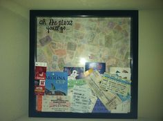 """Oh The Places You'll Go"" erasable board idea. Place your old concert tickets, playbills, postcard, ect. in a big picture frame and voila! Big Picture Frames, Heart Crafts, Oh The Places You'll Go, Craft Projects, Diy Crafts, Organization, Crafty, Diy Ideas, Decor Ideas"