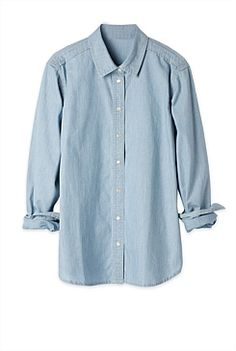 Authentic Chambray Shirt - from Trenery Denim Button Up, Button Up Shirts, Chambray, Women Wear, Shirt Dress, Womens Fashion, Mens Tops, How To Wear, Shopping