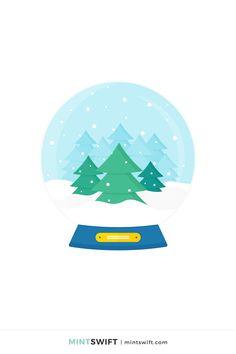 Vector Illustrations, Vector Art, Web Design Packages, Forest View, Flat Design Illustration, Print Design, Graphic Design, Business Checks, Snow Globe