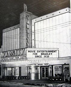 Varsity Theater 1948 in Peoria, IL by plasticfootball via Flickr.  Demolished to create Campus Town.