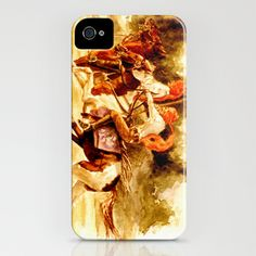 Horses and People No.1 iPhone Case by Vargamari - $35.00 - Watercolor from the Horse-series
