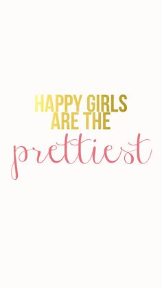 Happy girls are the prettiest iPhone wallpaper.
