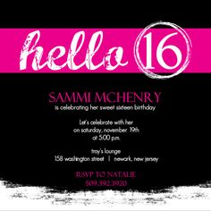 Free Invitations For Sweet 16th Birthday Party Printable 16