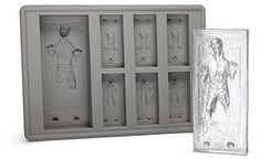 Hans Solo in carbonite ice cube trays:  Hey Star Wars fans! Who doesn't love Han Solo and cold drinks? Now you can fashion your own Han Solo ice cubes. Free your favorite space hero from his eternal slumber and allow him to furbish and cool your summer beverage. This is literally the coolest geek-prop of the summer.