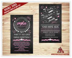 Plexus Business Card Design Slim By APrintersCottage