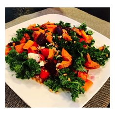 Summer Rainbow Kale Salad Recipe from Levy's Dietitian Patty Coleman