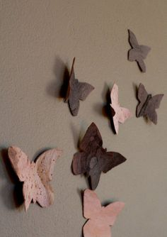 Not seeing enough butterflies these days and want to see more? You can make these wood veneer butterflies to fill in for the real thing.