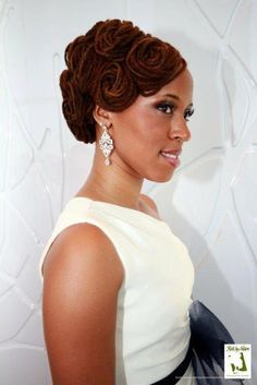 Pin Curl Updo | Black Women Natural Hairstyles