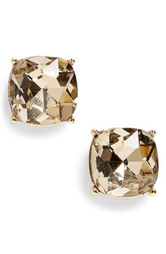 topaz faceted stone stud earrings