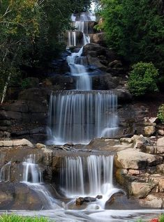 Cascading Waterfall, Robinson, Pennsylvania Visit our Page -► ツ Wild Life With Amazing Nature ツ ◄- For Oh The Places You'll Go, Places To Travel, Places To Visit, Beautiful Waterfalls, Beautiful Landscapes, Beautiful Nature Photos, Amazing Nature, Natural Waterfalls, Beautiful World