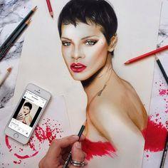 #искусство #арт #иллюстрации #реализм #рисунки #современныехудожники #giorgos_diamantis #знаменитости #портреты #mypositivestyles #myps