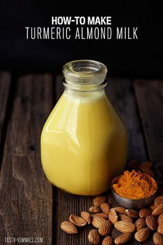 How-to Make Turmeric Almond Milk - soothing, tasty, anti-inflammatory goodness from Tasty Yummies
