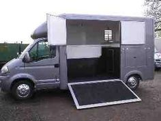 This 2006 3.5T Vauxhall Movano horsebox travels up to two horses and is currently for sale at £14,500 | For sale on HorseDeals.co.uk