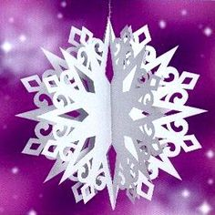 Volume Snowflake - Christmas Star - Ornament with their hands for the room, class room, office paper for Christmas, New Year