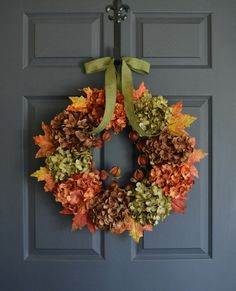 Fall Wreath  Fall Decor  Wreath  Front Door by HomeHearthGarden