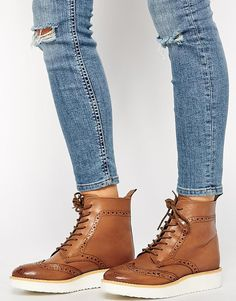 ASOS ALBY Leather Ankle Boots