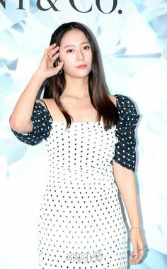 09.08.19 Krystal Jung, Polka Dot Top, Tops, Women, Fashion, Moda, Women's, La Mode, Shell Tops