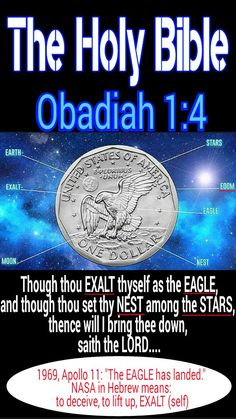The Holy Bible: Obadiah 1:4 Though thou exalt thyself as the eagle, and though thou set thy nest among the stars, thence will I bring thee DOWN, saith the LORD.... America aka Babylon. A land build on blood of the natives (Hebrew Israelites) and on slavery (Hebrew Israelites). #HebrewIsraelites spreading TRUTH. GatheringofChrist.org #GOCC on YouTube. Praise the Most High AHAYAH and YASHAYA Christ