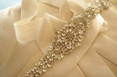 rhinestone applique, crystal applique, beaded applique, bridal belt applique, wedding sash applique on Etsy, $36.99