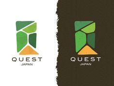 Quest Japan Logo by Stephen David Smith Logo Branding, Branding Design, Graphic Design Brochure, Business Logo, Business Card Design, Japan Architecture, Japan Logo, City Logo, Farm Logo
