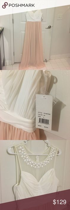 FLASH SALE! NWT Adrianna Papell Dress This dress is SO gorgeous!!! I bought it to wear for our anniversary this summer, but I'm going to wear an all white dress instead. This dress was tried on, but never worn. It is blush pink with a white top and white beading. It is Hailey by Adrianna Papell. This is a perfect evening gown for prom or a gala or even a summer fancy event/ romantic date.  Adrianna Papell Dresses