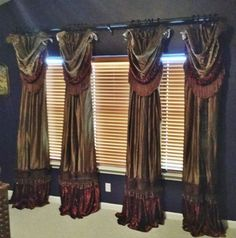 Swags and Drapery Panels for every room in your home by Reilly-Chance Collection http://reilly-chanceliving.com/collections/window-treatment