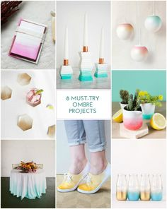 8 Must-Try Ombre Craft Projects