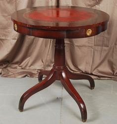 Regency Style Mahogany Table for auction. Quatrefoil, Leather Tooling, Regency, Auction, Canada, Antiques, Table, Furniture, Home Decor