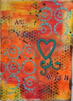 Art journal page: Gelatos, Modeling Paste and Stamping