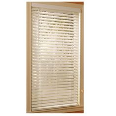 New-Style-Selections-White-Faux-Wood-2in-Blinds-Plantation-Style-23-x-64