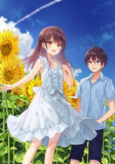 Manga Girl, Anime Girls, Shoujo, Anime Love, Anime Couples, Otaku, Romantic, Memes, Sun Flowers