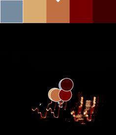 Rojo y Rojo granate(9):730101/400000 Paleta y puntos de color