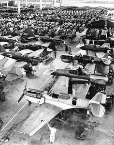 Curtiss P-40 Warhawk fighter aircraft being manufactured    From World War II: The Invasion of Poland and the Winter War, part 2 of a weekly 20-part retrospective of World War II - an epic undertaking.    Thanks to the excellent Kateoplis for the submission