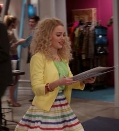 """Carrie's  Alice + Olivia Belted Stripe Flare Skirt on The Carrie Diaries Season 1, Episode 12 """"First Time for Everything"""""""