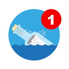 Message In A Bottle Icon Royalty Free Stock Vector Art Illustration