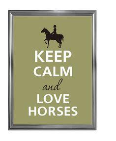 Mantener la calma y amo a los caballos por Agadart en Etsy