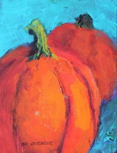 """Pumpkins! Contemporary Still Life Paintings by Arizona Artist Amy Whitehouse"" - Original Fine Art for Sale - � Amy Whitehouse"